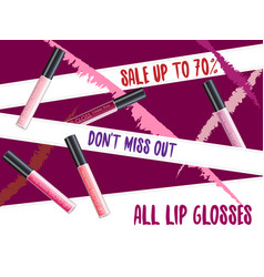 lipgloss package design vector image