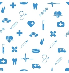 medical icons seamless pattern vector image