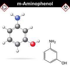 Meta aminophenol molecule vector