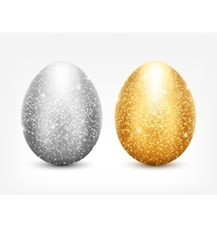 Metal Egg Set vector image