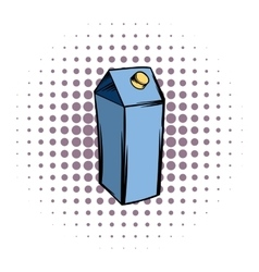 Milk or juice carton box comics icon vector image