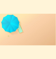 minimalistic view summer beach in paper craft vector image