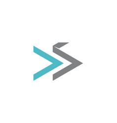 Modern solution letter ds vector