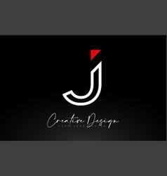 Monogram j letter logo design with creative lines vector