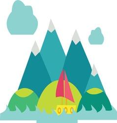 Mountain Scene vector