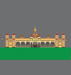 mysore palace vector image
