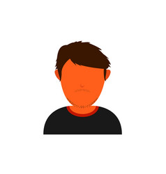 Orange skin avatar with messy shaggy hair vector