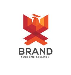 Phoenix modern geometric logo concept vector