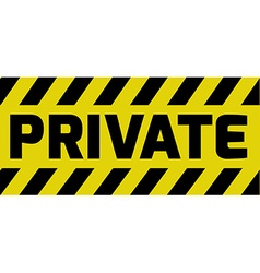 Private sign vector
