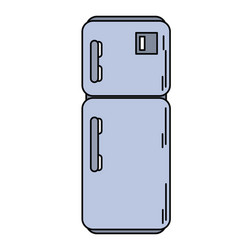 refrigerator appliance kitchen icon vector image