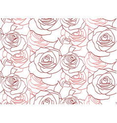 seamless texture with contour of roses for your vector image
