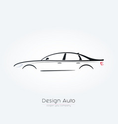sedan car silhouette design vector image