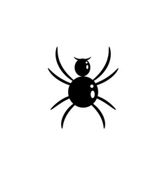 spider silhouette cartoon icon bug insect vector image