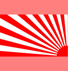 sunrise background with japan style vector image
