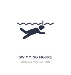 Swimming figure icon on white background simple vector