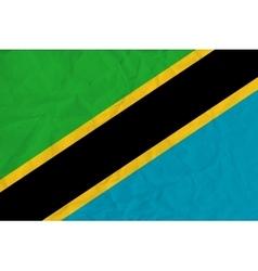 Tanzania paper flag vector