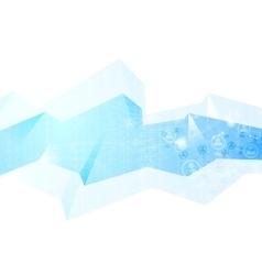 Team communication concept geometric background vector
