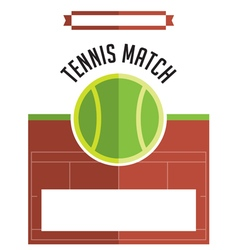 Tennis Match Flyer vector
