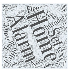 The Cons Of Home Intruder Alarms Word Cloud vector