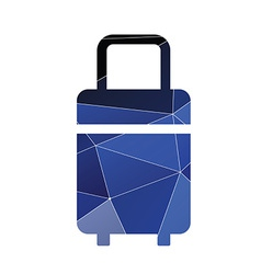 travel bag icon Abstract Triangle vector image