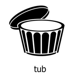 Tub icon simple black style vector