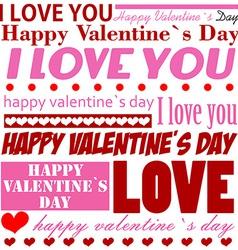 Valentines Day typographic background vector