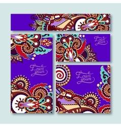 violet colour collection of decorative floral vector image