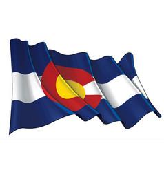 Waving flag state colorado vector