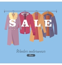 Winter Outerwear Sale Banner Winter Collection vector