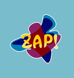 Zap sticker social media network message badges vector
