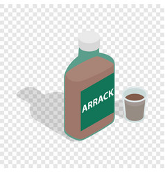 bottle of arrack isometric icon vector image