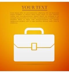 Business case flat icon on orange background vector image vector image