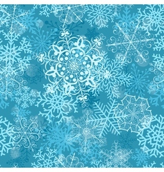 Christmas seamless pattern on turquoise vector image