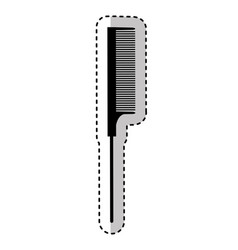 hairdresser comb isolated icon vector image vector image