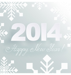 Happy New Year light background vector image