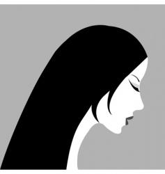 woman's profile vector image vector image