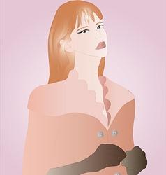 Beautiful redhead woman vector image vector image