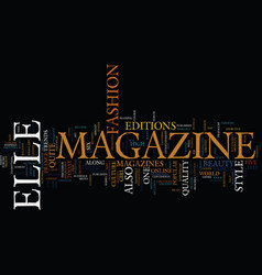 Elle magazine the history text background word vector