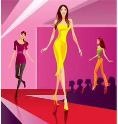 Fashion models representing a new collection vector image