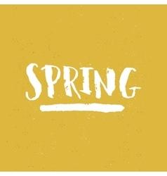 handdrawn lettering Spring vector image