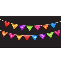 Happy Birthday Party Background with Flags vector image vector image