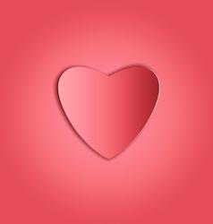 Heart paper copy vector image vector image