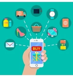 Mobile Payment Financial Concept vector image