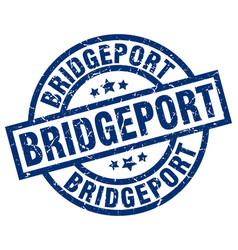 Bridgeport blue round grunge stamp vector