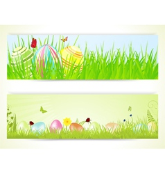 Easter banners 2013 vector image