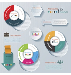 Modern infographic template design for business vector image vector image