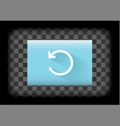 return icon vector image vector image