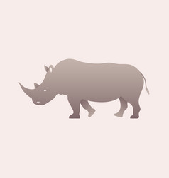 silhouette of a rhino rhinoceros side view vector image vector image