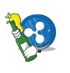 With beer ripple coin character cartoon vector