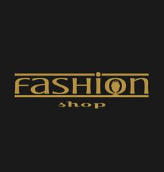 fashion shop logo design vector image